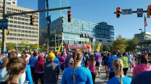 Courtesy of MENGLI SHI The Baltimore Running Festival drew about 24,000 runners, including several Hopkins students.