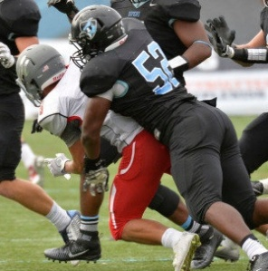 HOPKINSSPORTS.COM Soph Keonte Henson was named CC Defensive Player of the Week.