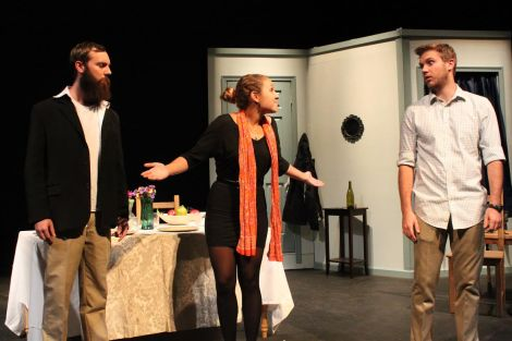 "COURTESY OF STEPHAN CAPRILES Ian Stark, Alana DiSabatino and Neil Chapel were in the play titled ""The Bike People."""