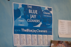 Courtesy of Sofya Freyman Blue Jay Cleaners is one student-run business that Hopkins Student Enterprises has helped succeed.