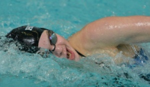 HOPKINSSPORTS.COM Sophomore Anna Wisniewski earned three individual wins Saturday.